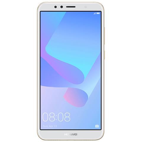 "HUAWEI Y6 2018 Oro 16 GB 4G / LTE Display 5.7"" HD+ Slot Micro SD Fotocamera 13 Mpx Android Tim Italia"