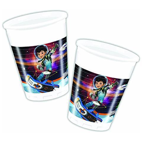 Miles Dal Futuro - 8 Bicchieri Plastica 200 Ml