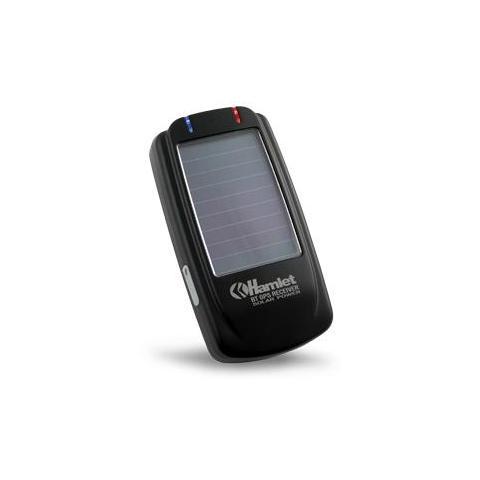 HAMLET HBTGPSOL Ricevitore GPS Bluetooth con Pannello Solare