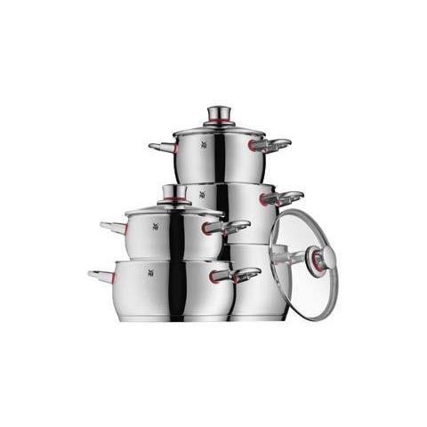 WMF Set Pentole 5 pezzi in acciaio inox 18/10 serie Quality One