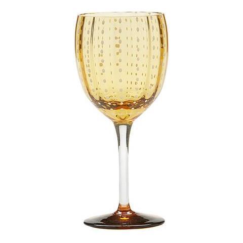 Set 6 Bicchieri Vino In Vetro Ø 81 Mm H 190 Mm Capacità 30 Cl Colore Ambra - Collezione Perle