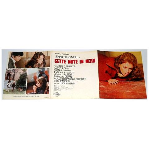 Vendilosubito Brochure Originale Del Film Sette Note In Nero 1977
