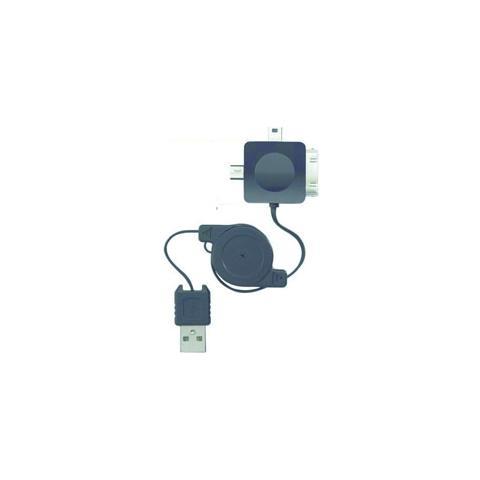 PHOENIX TECHNOLOGIES PH3EN1RETRACTIL, USB 2.0, iPhone / iPod / iPad, micro USB, mini USB, Maschio / maschio, Nero, 0,6m