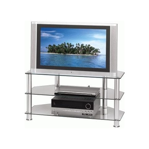 HAMA Mobiletto porta TV, 3 ripiani da 100 cm, trasparente