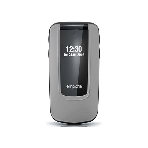 "Emporia Comfort Senior Phone Display 2.8"" Micro SD Bluetooth con Tasti Grandi + SOS Fotocamera Colore Grigio"