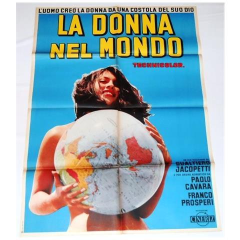 Vendilosubito Manifesto Originale Del Film La Donna Nel Mondo 1963
