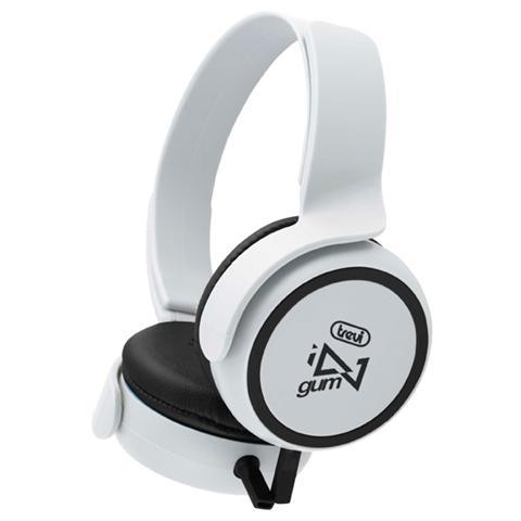 TREVI Cuffie Stereo Gum Con Microfono Dj 673 M Bianco