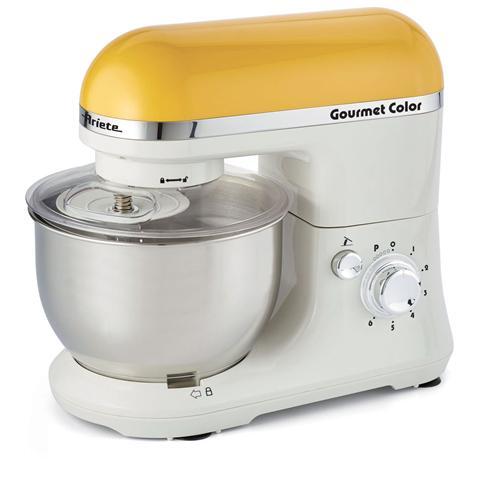 Gourmet Color Robot da Cucina Impastatrice Capacità 4 Litri Potenza 1000 Watt Colore Giallo