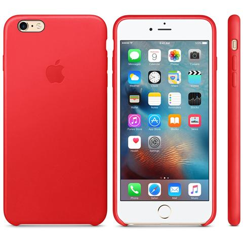 APPLE Custodia in Pelle per iPhone 6s Plus Colore Rosso