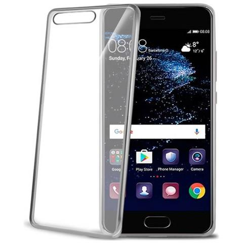 CELLY Cover Laser in TPU per Huawei P10 Plus Colore Argento / Trasparente