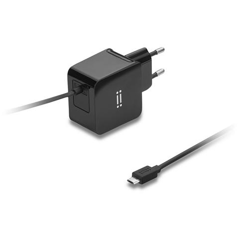 AIINO Wall Charger 2A w / built-in Micro USB cable - Black