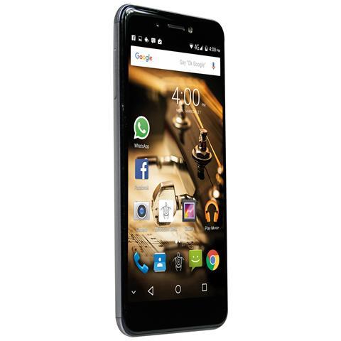"MEDIACOM PhonePad S532 Argento 16 GB 4G / LTE Dual Sim Display 5.3"" HD Slot Micro SD Fotocamera 13 Mpx Android Italia"