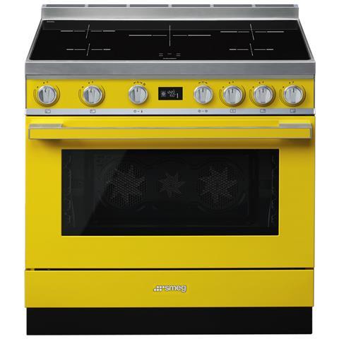 Cucina Elettrica CPF9IPYW 5 Zone di Cottura Forno Elettrico Dimensione 90 x 60 cm Colore G...