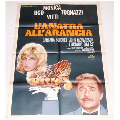 Vendilosubito Manifesto A2 Originale Del Film Anatra All' arancia Ugo Tognazzi Monica Vitti