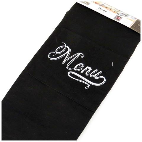 grembiule 'bistrot' nero (menu) - [ m7697]