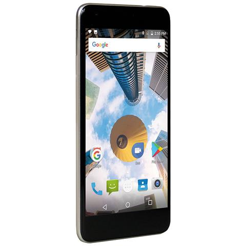 "MEDIACOM PhonePad Duo S7p Champagne 16 GB 4G / LTE Dual Sim Display 5.5"" HD Slot Micro SD Fotocamera 13 Mpx Android Italia"