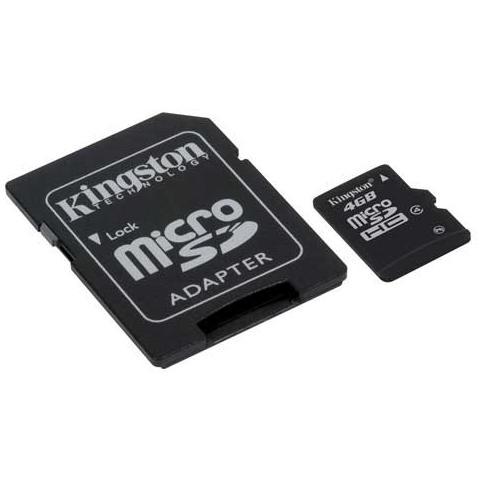 KINGSTON Scheda di Memoria MicroSDHC Capacità 32 GB Classe 4 + Adattatore SD