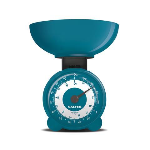 SALTER 139 BLKR Bilancia Meccanica Capacità 3 Kg Grande Quadrante Analogico Colore Blu Dimensioni