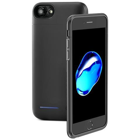 FONEX Power Skin Cover con Batteria Incorporata 3000 mAh per iPhone 7/8 Colore Nero