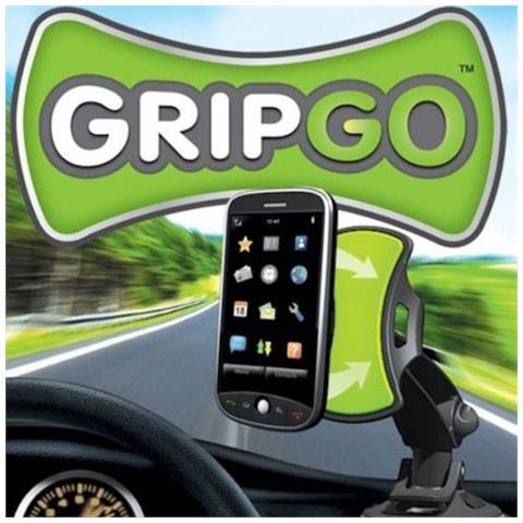 takestop Supporto Auto Smartphone Gripgo Navigatori Universale Superficie Polimerica Ventosa 360â° Gradi Guida Parla Sicurezza