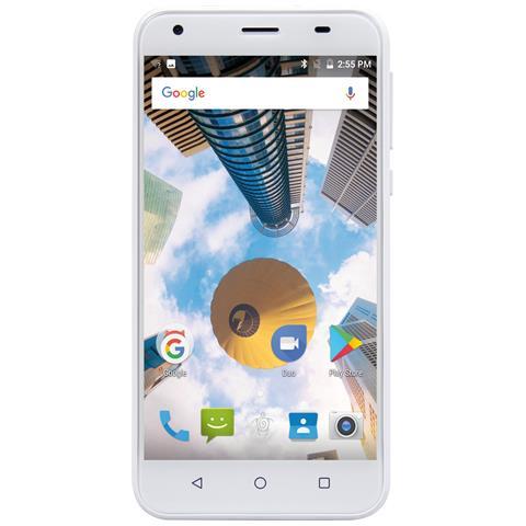 "MEDIACOM PhonePad Duo S5 Bianco 16 GB 4G / LTE Dual Sim Display 5"" Slot Micro SD Fotocamera 8 Mpx Android Italia"