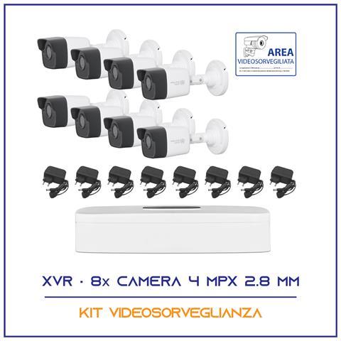 Image of Kit Videosorveglianza 8 Telecamere 5 Mpx 2.8mm P2p