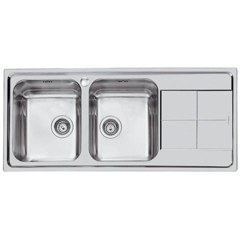 Image of 2112062 Serie KS Lavello da incasso in Acciaio 2 Vasche Dimensioni 116 x50 cm