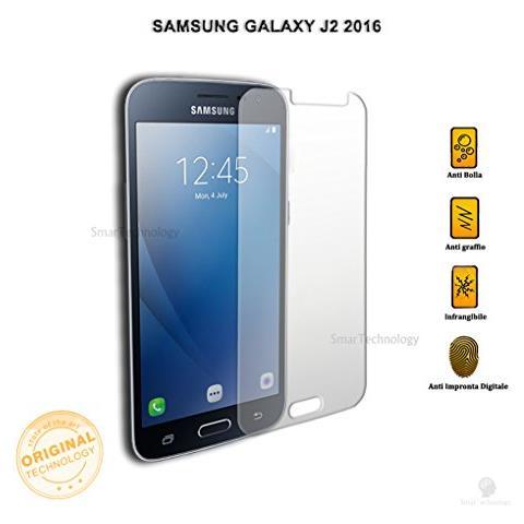 Smartechnology Pellicola Vetro Temperato Per Samsung Galaxy J2 2016 Display 5 Pollici Trasparente Protezione Schermo Salva Touch Screen