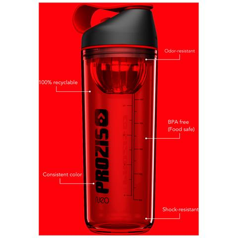 Neo Mixer Bottle 2.0 - Crystal Jet-black-