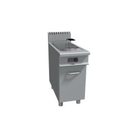 Friggitrice a gas 1 vasca capacità 17 litri - Dim. cm 40x90x85h