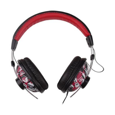 "G-CUBE Play, Stereofonico, Padiglione auricolare, Rosso, Cablato, 3.5 mm (1/8"") , Circumaurale"