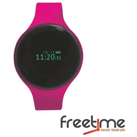 "Techmade Smartwatch FreeTime Display 0.66"" Bluetooth Rosa - Italia"