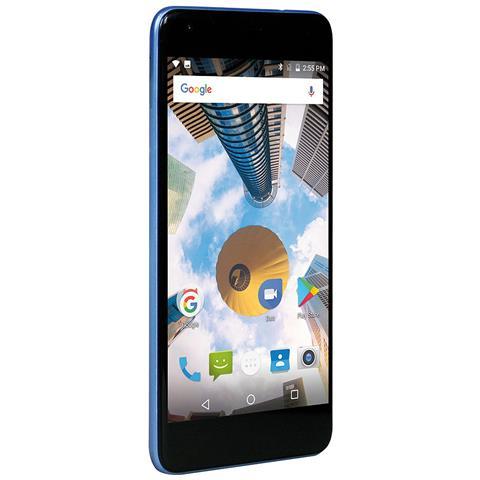 "MEDIACOM PhonePad Duo S7 Azzurro 16 GB 4G / LTE Dual Sim Display 5.5"" HD Slot Micro SD Fotocamera 8 Mpx Android Italia"