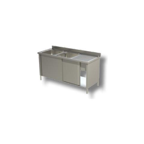 Lavello 160x60x85 Acciaio Inox 430 Armadiato Cucina Ristorante Pizzeria Rs4903
