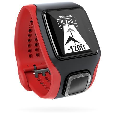 TOMTOM Multi-Sport Cardio con GPS e Cardiofrequenzimetro Colore Nero / Rosso