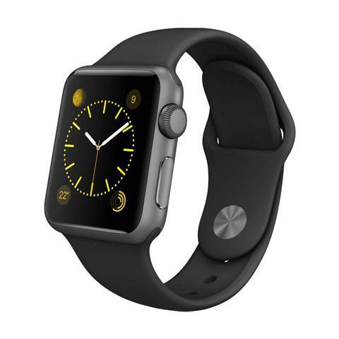 FONEX Cinturino WristBand in silicone per Apple Watch da 38mm - Nero