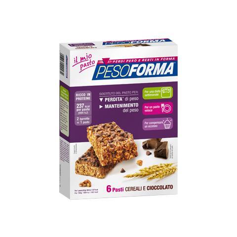 Nutrition & Sané Italia Pesoforma - 12 Barrette Cereali E Cioccolato - 6 Pasti Sostitutivi