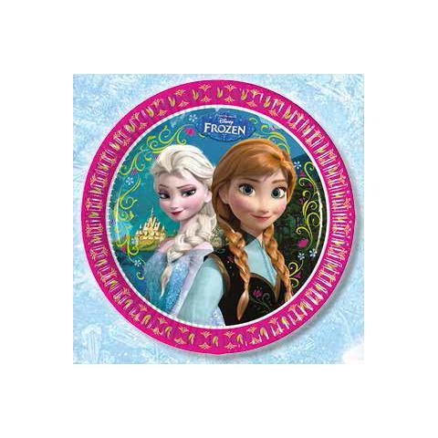 Como Giochi Frozen - 8 Piatti 23 Cm