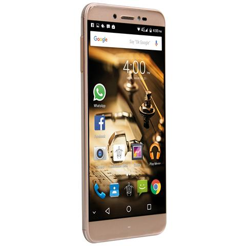 "MEDIACOM PhonePad S532 Oro 16 GB 4G / LTE Dual Sim Display 5.3"" HD Slot Micro SD Fotocamera 13 Mpx Android Italia"
