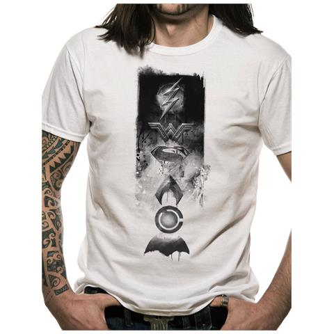 CID Justice League Movie - Icons (T-Shirt Unisex Tg. 2Xl)
