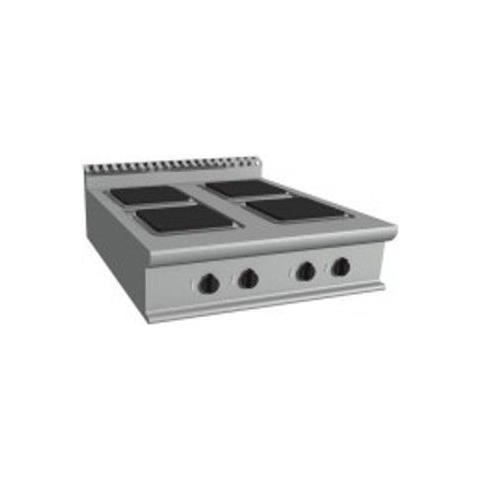 Cucina elettrica top 4 piastre - Dim. cm 80x90x23h