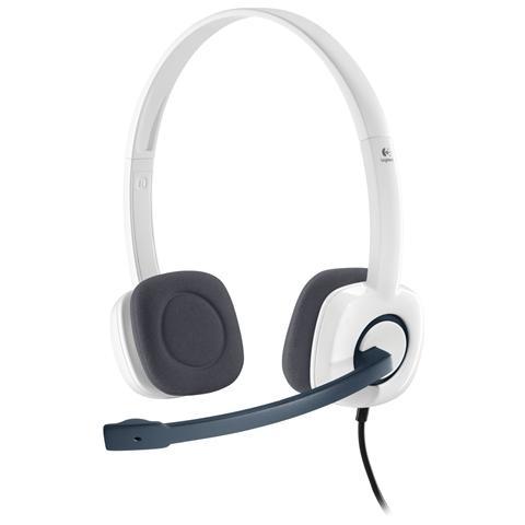 LOGITECH H150 Cuffie Stereo con Microfono Cavo 1.5 M Jack 3.5 mm - Bianco