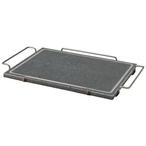 Pietra Quadrata 29x40 Con Supporto In Acciaio - Misura Cm 29x40