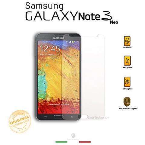 Smartechnology Pellicola Vetro Temperato Trasparente Per Samsung Galaxy Note 3 Neo Iii Con Display Da 5.5 Pollici Protezione Totale Schermo + Kit Applicazione E Guide