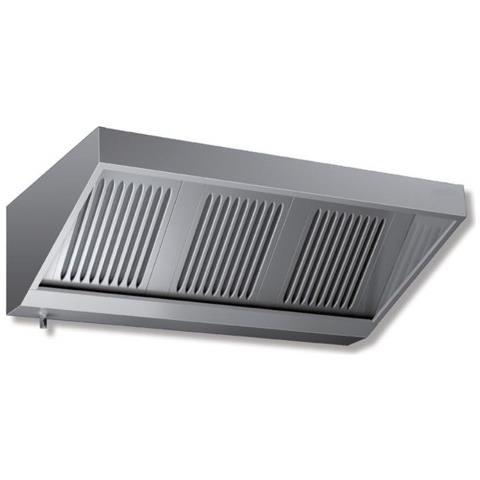 Cappa 120x110x45 Acciaio Inox Snack Motore Cucina Ristorante Rs7227