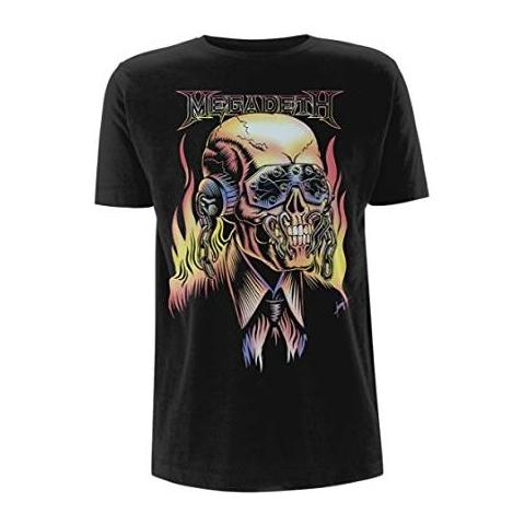 PHM Megadeth - Flaming Vic (T-Shirt Unisex Tg. XL)