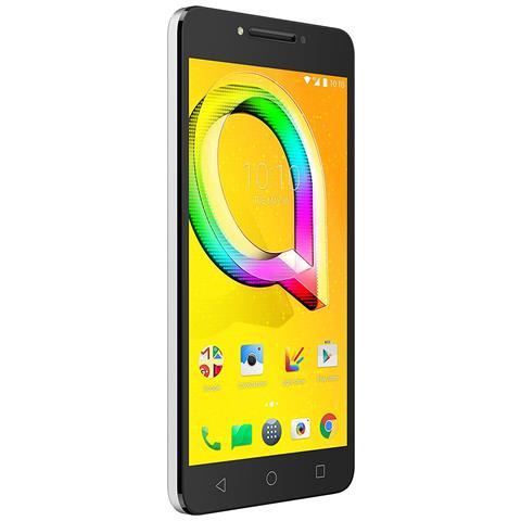 "ALCATEL A5 Led Argento 16 GB 4G / LTE Display 5.2"" HD Slot Micro SD Fotocamera 8 Mpx Android Italia"