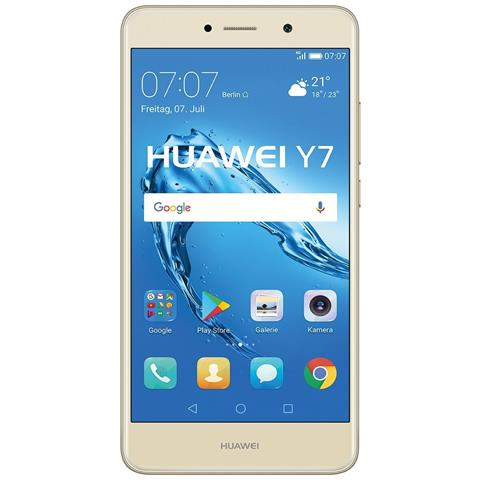 """HUAWEI Y7 Oro 16 GB 4G / LTE Display 5.5"""" HD Slot Micro SD Fotocamera 12 Mpx Android Europa"""