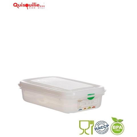 Denox Contenitore Gastronorm Gn Coperchio Ermetico Polipropilene -40°+100° Certificato Haccp Made In Spain - Gn 1/2- H100- Lt6,5
