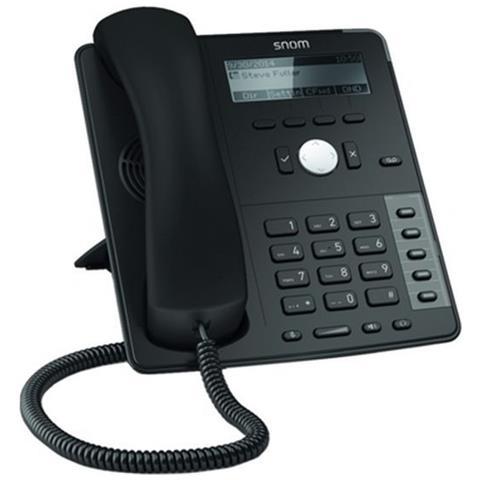 Image of D712 Cornetta cablata 4linee Nero telefono IP